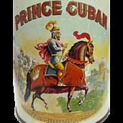 Vintage Prince Cuban Cigar Tin c. 1890's