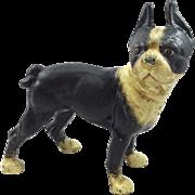 Vindex Toys Cast Iron Boston Bull Terrier Still Bank