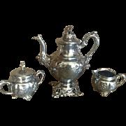 Quadruple Plate Tea Set W R Web New York Highly Detailed