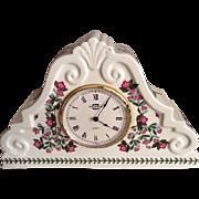"Vintage Large (12.5"") Portmerion Mantel Clock -- Botanic Garden Pattern"