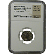 Roman Empire Julia Maesa AD 218-224/5 NGC Certified Ch VF