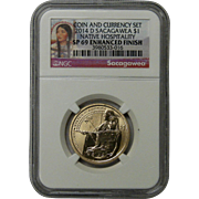 2014 D Sacagawea $1 SP69 Enhanced Finish Commemorative Dollar Coin