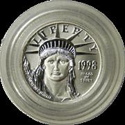 1998 Ten Dollar Platinum Eagle $10 Coin Mint Capsule