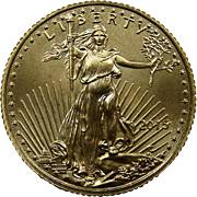 SOLD 2015 American Gold Eagle 1/10 oz (One Tenth Troy Ounce) $5 Dollar Coin