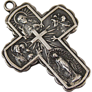 Vintage Sterling Crucifix Rosary Cross Charm Pendant