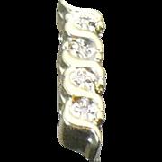 Vintage 14kt yellow gold and diamond KLEIN slide #1