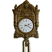 French Comtoise Morbier Wall Clock With Cuckoo