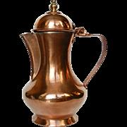 Vintage Copper Coffee Pot / Jug