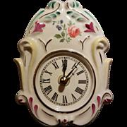 German Black Forest Wall Porcelain Clock