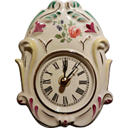 German Black Forest Wall Porcelain Clock