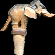 Anri Hatior Mechanical Wooden Wine Cork - Elephant