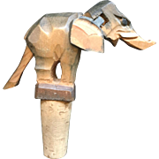 Anri Hatior Mechanical Wooden Wine Cork - Elephant