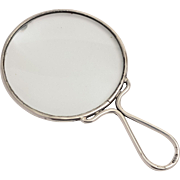 Early 20th C. Sterling Silver Framed Magnifying Glass