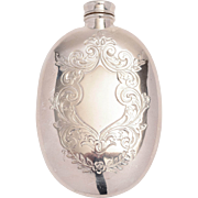 Silver Plated Victorian Hip Flask