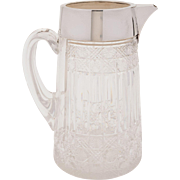 Grand Victorian Cut Glass Water Jug/pitcher, circa 1880