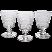 Set of 3 Cut Glass Bucket Rummers, Circa 1825