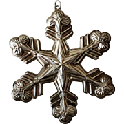 1998 Gorham Sterling Annual Snowflake Ornament