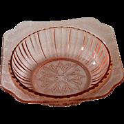 Jeannette Glass Pink Depression Glass Bowl   ADAM