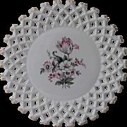 SALE Atterbury Botanical Lattice Work Plate
