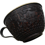 Early 19th century Chinese carved coconut shell cup.