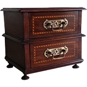 Inlaid exotic wood jewelry box.Circa 1925