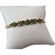 22k Yellow Gold Emerald Bracelet