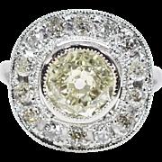 SALE Antique Platinum 2.95ct K-VS2 Old Mine Cut Diamond Engagement Ring 9.1g