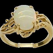 Opal 14 Karat Yellow Gold Ring