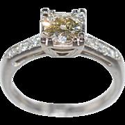 SALE Antique Platinum .82ct L-SI Old European Cut Diamond Ring 5.5g
