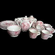 SALE Staffordshire Complete Child's Tea Set for 6