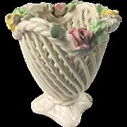 Dainty Capodimonte Vanity Vase Basket