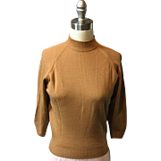 """1950's / 1960's Label """"Lansea"""" Sweater Made in Great Britain 100% Pure Virgin Wool ."""