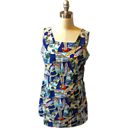 "1980's ""Shannon Marie"" Traditional Hawaiian Summer Shift Dress"