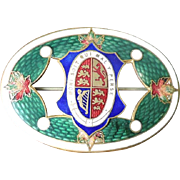 The Most Noble Order of the Garter - Large Enameled Pin/Brooch - Circa 1900