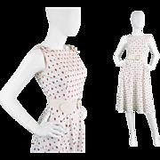 1960s Louis Feraud White Cotton A-Line 60s Mod Dress