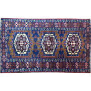 SALE AUTHENTIC HAND KNOTTED SILK PERSIAN CARPET. CIRCA 1945