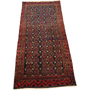 SALE Authentic Hand Knotted Persian Rug. Circa 1930