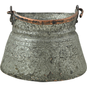 SALE Gorgeous 18th Century Hand Wrought Antique Copper Bucket for Yoghurt Preservation