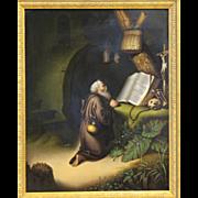 19th Century Hand Painted German KPM Porcelain Plaque of Saint Jerome in prayer