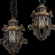 Vintage Crafted Iron Lanterns