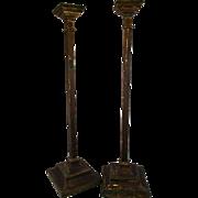 1900's Irish Wood Pedestals