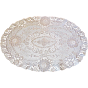 Large Vintage Oval Lace Doily