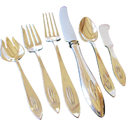 Shreve & Co Arts and Crafts Sterling Silver Set of Flatware - Buckingham Narrow 41p - 6 piece