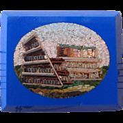 SALE Small antique Italian micromosaic micro mosaic plaque Coliseum c1880