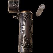 SALE Antique French Art Nouveau Smelling Salts / Perfume Bottle Pendant c1900