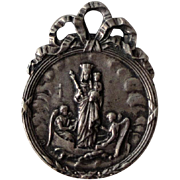 Vintage Our Lady of Boulogne sur Mer French Religious Medal (Madonna & Child on a Boat ...