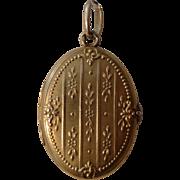 Antique French Art Nouveau 18k Yellow Gold Locket / Pendant c1900