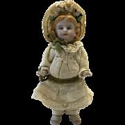 Ginger Girl With Floral  Bonnet