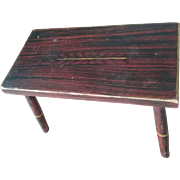 19th Century Grain Painted Cricket Bench