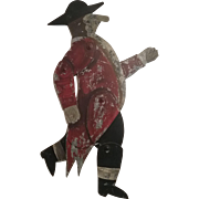 Painted Tin Red Coat Figure